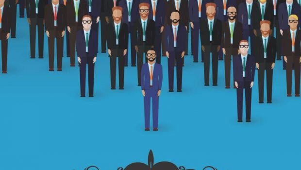 l'uomo in blu